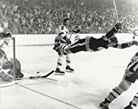 "Hockey Boston Bruins Bobby Orr Famous Goal Victory after scoring ""The Goal"" in the 1970 Stanley Cup Final Photo Picture"