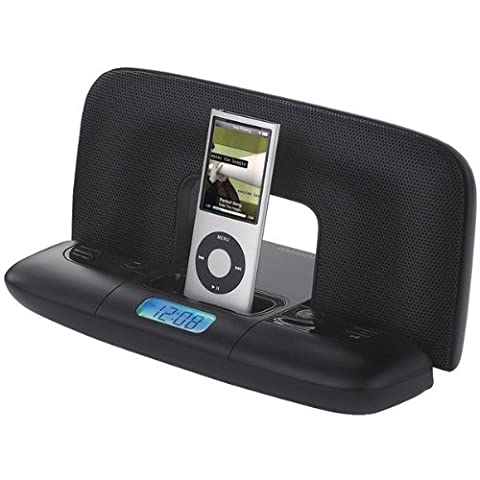 Memorex Mi2290 Travel Speaker System with 30-Pin iPod Connector and Carrying Case, Black - Imation Is A Carrying Case