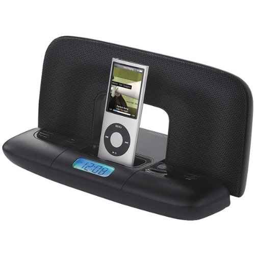 Imation Nano (Memorex Mi2290 Travel Speaker System with 30-Pin iPod Connector and Carrying Case, Black)