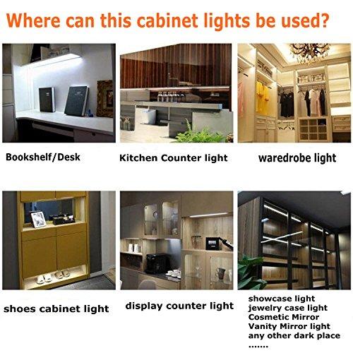 Under Cabinet Lights, 10ft 60leds Warm White Closet Kitchen Counter ...