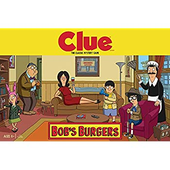 USAOPOLY Clue Bobs Burgers Board Game | Themed Bob Burgers TV Show Clue  Game | Officially Licensed Bob's Burgers Game | Solve The Mystery in This