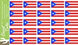 50 shades car decal - Puerto Rico State Flag Sticker Decal 1 Inch Rectangle Two Sheets 50 Total Pieces Kids Logo Scrapbook Car