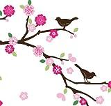 Cherry blossom and Blue Birds Nursery/Kids' Room Wall Art Sticker Decal, Baby & Kids Zone