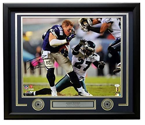Jason Witten Photograph - Jason Witten Signed Framed 16x20 Dallas Cowboys No Helmet Photo JSA
