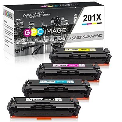 GPC Image Compatible Toner Cartridge Replacement for HP 201X 201A CF400X CF401X CF402X CF403X CF400A Toner to use with Color Laserjet Pro MFP M277dw M252dw M277n M252n MFP M277c6 Printer (4-Pack)