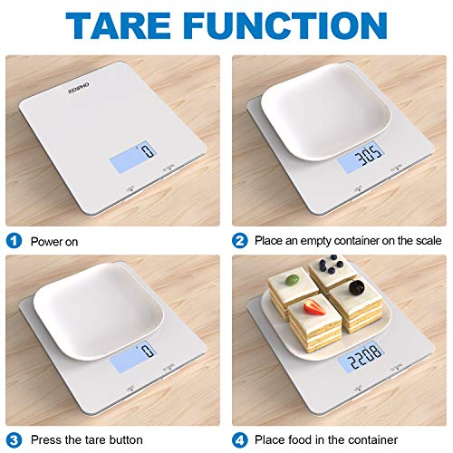 RENPHO Digital Food Scale, Kitchen Scale for Baking, Cooking and Coffee with Nutritional Calculator for Keto, Macro, Calorie and Weight Loss with Smartphone App, White 6