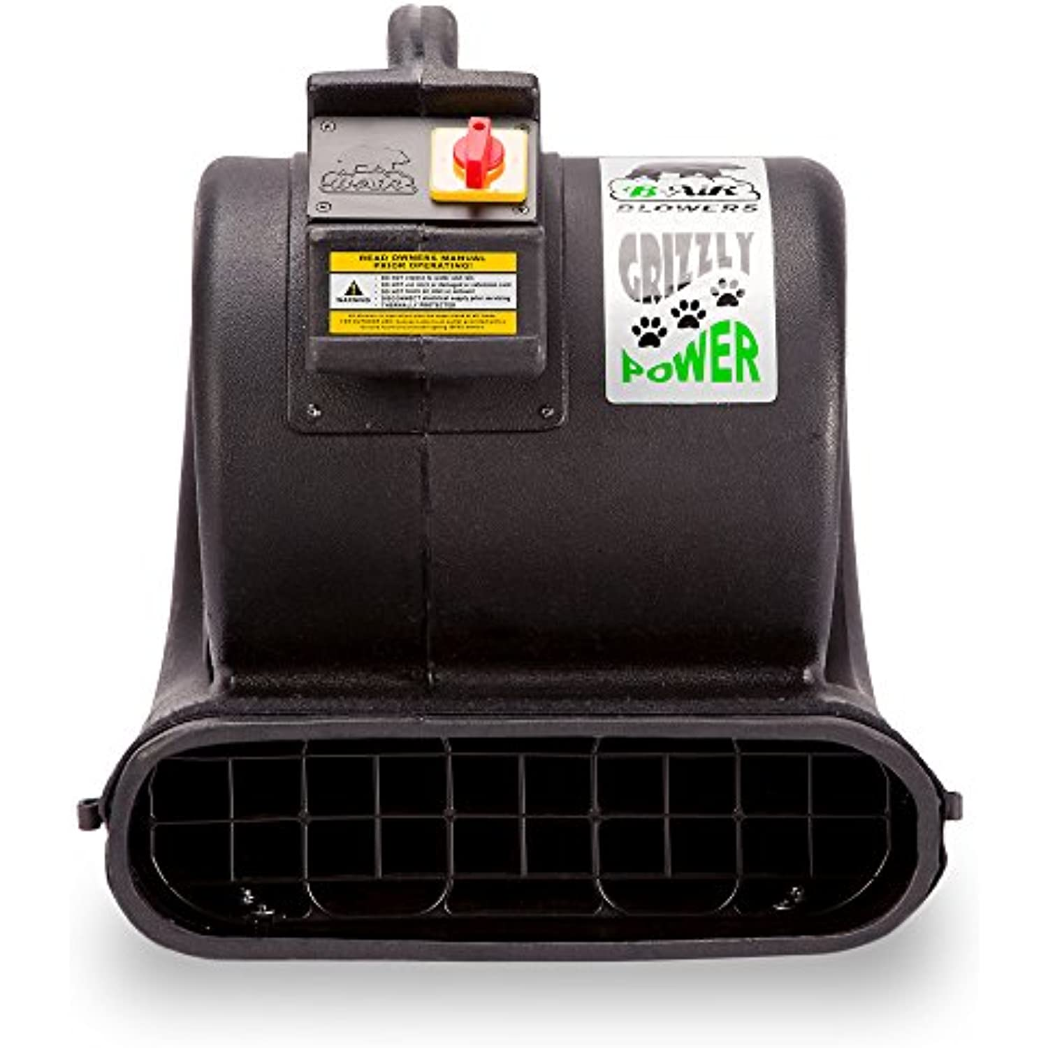 B-Air Grizzly GP-1 1 HP 3550 CFM Grizzly Air Mover Carpet Dryer Floor Fan for Water Damage Restoration and Pet Cage Dryer Black