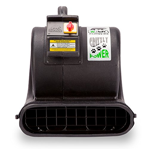 B-Air 1 HP 3550 Grizzly Mover Floor Fan Water Damage Restoration and Cage Black