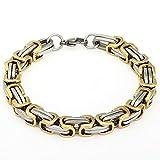 Trendsmax 8mm Mens Chian Byzantine Box Stainless Steel Bracelet Gold Silver Tone 7-11inch