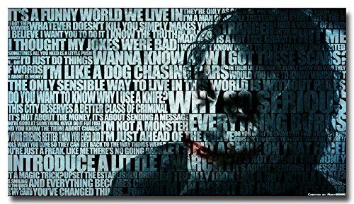 Twenty-three Batman Joker The Dark Knight Rises Movie Silk Fabric Poster Print 24X36 (Dark Knight Joker Poster)
