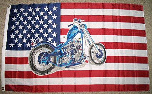 USA Motorcycle Flag 3'x5' Harley Davidson Bike Banner