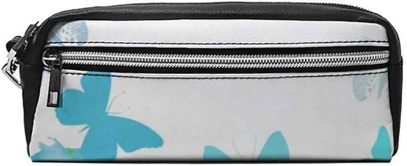 Estuche pequeño de Piel para lápices y cosméticos, diseño de Mariposas: Amazon.es: Equipaje