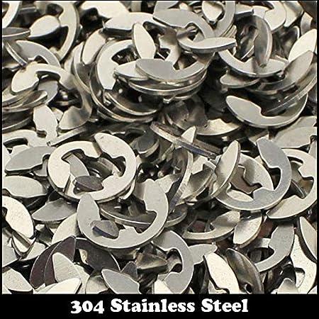 Ochoos M5 201 304 Stainless Steel 201ss 304ss DIN6799 Retaining Ring for 5mm E-Ring E Clip Snap Ring Shaft Circlip Inner Diameter: 80pcs 201ss