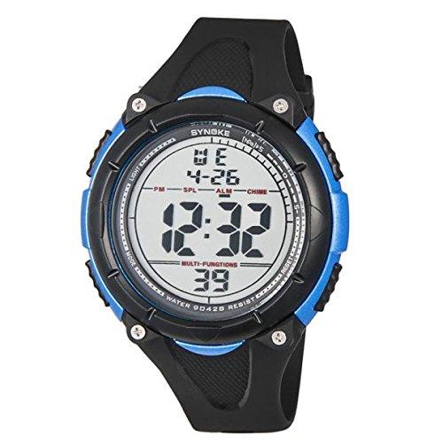 SamMoSon Relojes Hombre Deportivos Inteligentes Lotus Digitales Elegante,Hombres Led Fecha Digital Deporte Goma Reloj