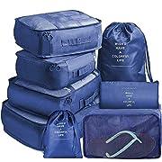 Koffer Organizer Set 8-teilig, Reise Kleidertaschen, wasserdichte Reisen Organizer Tasche für Kleidung Kosmetik…