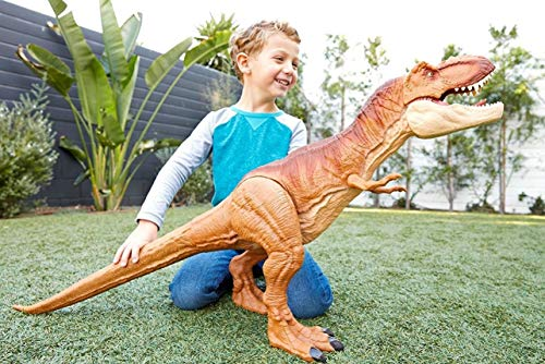 How Tall Is The T Rex (Big Dinosaur Toys T Rex Tyrannosaurus Boy Age 4 5 6 7 8 Kids Play Large Figure Jurassic World Articulated Arms Legs Jaw 3 Ft)