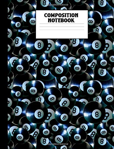 Composition Notebook: 8 Ball Pool College Ruled Lined Comp Book por Corner Press, Athlete's