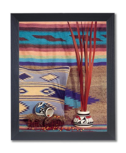 Southwestern Native Indian Pottery Picture Black Framed Art Print #2