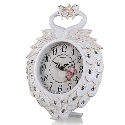 OLILEIO Unión peacock clock reloj decoración creativa moda cama ...
