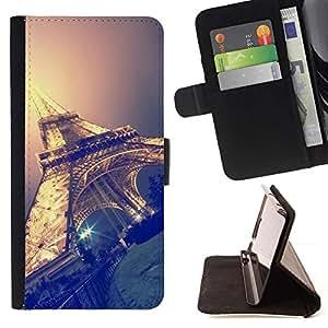 Momo Phone Case / Flip Funda de Cuero Case Cover - Sky Nuit Paris France - Samsung Galaxy Core Prime