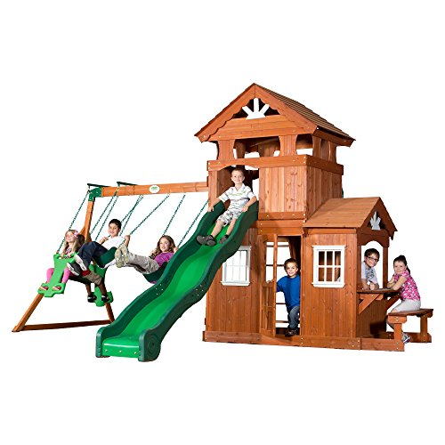 Backyard Discovery Shenandoah All Cedar Wood Playset Swing Set ()