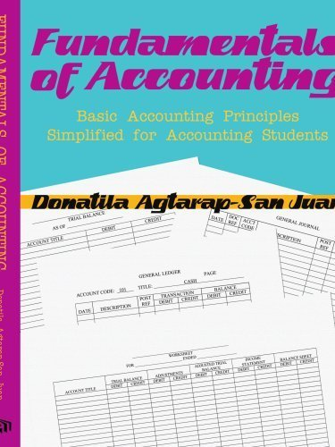 FUNDAMENTALS OF ACCOUNTING: BASIC ACCOUNTING PRINCIPLES SIMPLIFIED FOR ACCOUNTING STUDENTS by Donatila San Juan (2007-09-25)