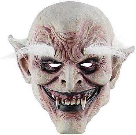 Creepy Smile Cry Baby Head Face Latex Mask Scary Halloween Costume Cosplay