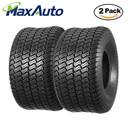 Set of 2 Turf Master Lawn & Garden Tires 20x10-8 20x10x8 4PR Load Range B by MaxAuto