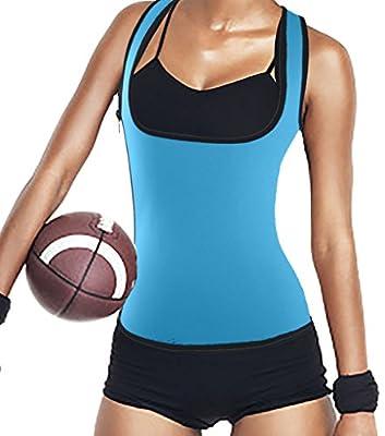 DODOING Womens Slimming Sweat Vest Hot Neoprene Shirt Body Shapers for Weight Loss Neoprene Sauna Tank Top Vest