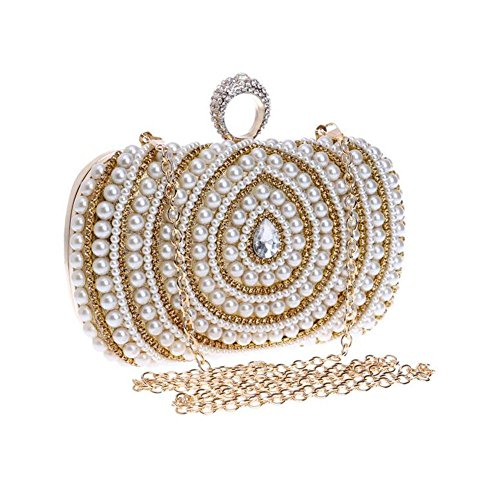 Diamond Nuptiale Party Lgsvb Embrayage Épaule Womens Pearl Gold Enfwxpq