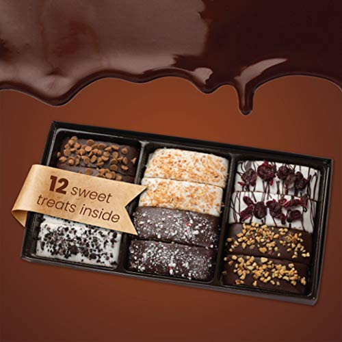 Barnett's Gourmet Chocolate Biscotti Cookies Gift Basket, Christmas Holiday Him & Her Cookie Gifts, Prime Corporate Men…