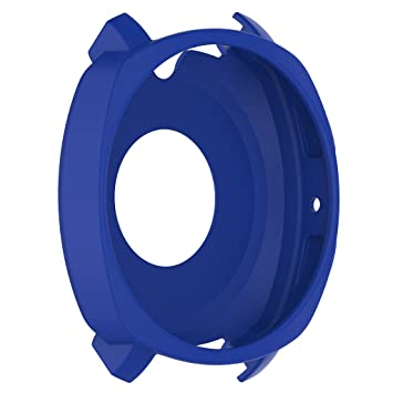 IPOTCH 1 Pieza Cubierta de Silicona Accesorios para Smartwatch Conecta con Samsung Gear Sport R600 - Azul