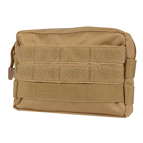 MOLLE Pouches - Compact Water-resistant Multi-purpose Tactical EDC Utility Gadget Gear Hanging waist Bags(Horizontal rectangle Pouch ,Tan (Gun Grabber)