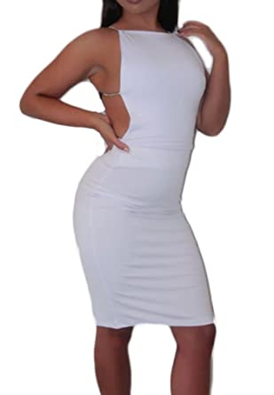 Mujer Vestidos De Fiesta De Noche Cortos Elegantes Vintage Jovenes Moda Basic Gala Sin Mangas Sin Espalda Ajustados Verano Vestido Corto Vestidos Coctel ...