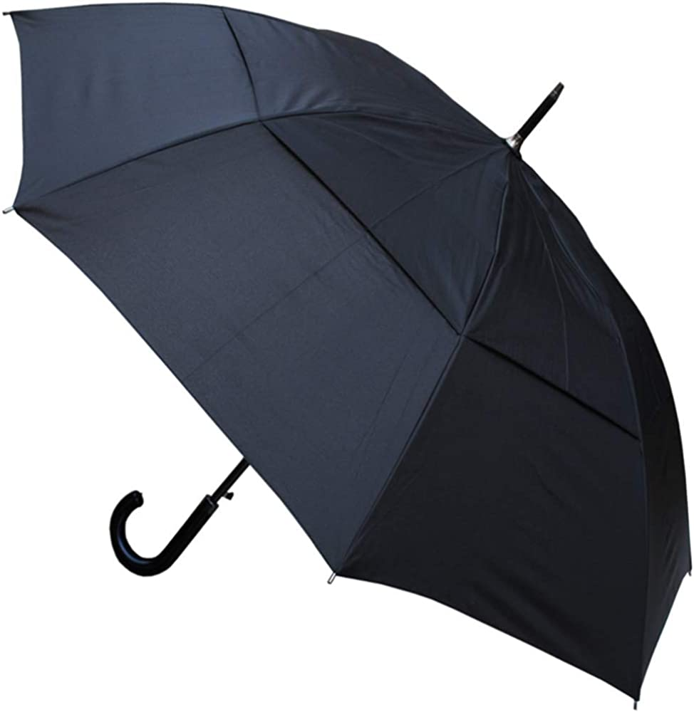 Black Extra Strong Umbrella with Reinforced Windproof Fram Travel Umbrella Automatic Open Close for Men Women Windproof Umbrella Compact