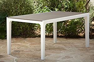 Exceptional Keter Harmony Indoor/Outdoor Patio Dining Table With Modern Wood Style  Finish, (Only Table Is Included)