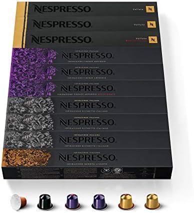 NESPRESSO CAPSULE ORIGINALI – Selezione Balanced con Caffè Decaffeinato,100 capsule di caffè Linea Original, Riciclabili
