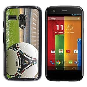 // PHONE CASE GIFT // Duro Estuche protector PC Cáscara Plástico Carcasa Funda Hard Protective Case for Motorola Moto G 1 1ST Gen / Balón de fútbol /