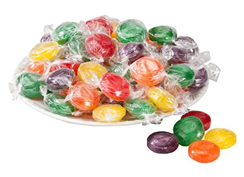 Assorted Fruit Button Hard Candies 19 oz. - Flavored Hard Candy
