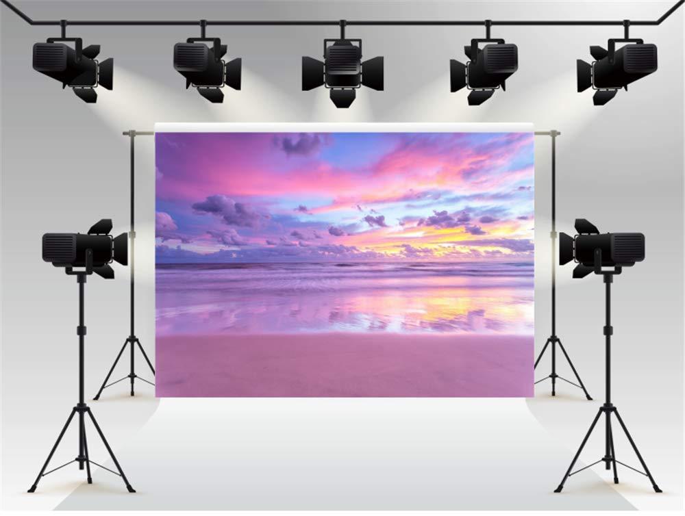 WaW 7x5piedi Foto sfondo fondale fotografico estate vacanza mare sfondo blu mare sabbia cielo