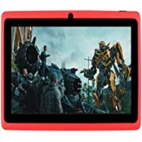 Egmy 7 Tablet - Android 4.4, Quad Core,1024x600 HD Screen, Dual Camera, Bluetooth, Wi-Fi, 8GB, 3D Game Supported(Red)