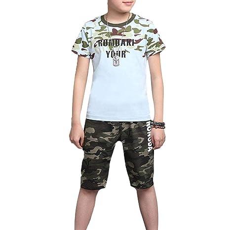 Conjunto de ropa para niños niños Juego de camuflaje de ...