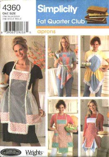 Fat Quarter Club - Simplicity 4360 Fat Quarter Club Aprons Designed by Teresa Nordstrom-Crafts Sewing Pattern