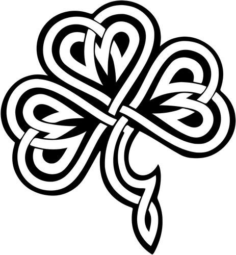 Irish Decal Products (Celtic Shamrock Irish Vinyl Decal Sticker Bumper Car Truck Window- 6