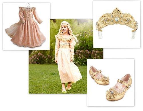 Disney Store Girls Maleficent Aurora Deluxe Costume