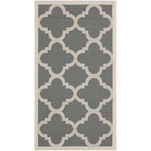 Safavieh Courtyard Collection CY6243-246 Grey and Beige Indo
