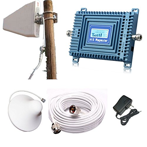 APOHALO 1900MHz Band Verizon AT&T PCS 2G GSM/3G 70db Mobile Cell phone signal Booster Amplifier With Indoor Antennas For Home Or Office Large - Mhz Repeater 1900