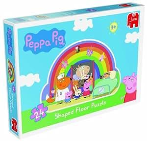 Jumbo Games Peppa Pig - Puzzle infantil en forma de arcoíris (tamaño grande, 24 piezas)