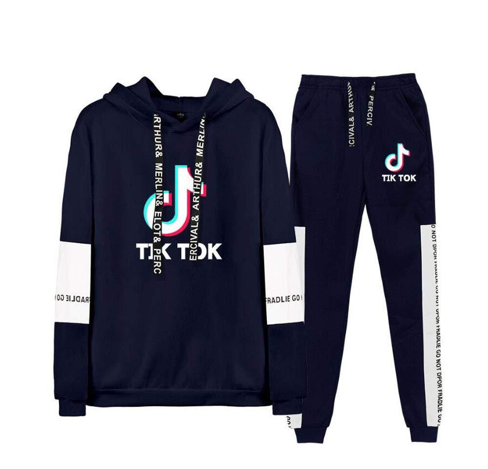 TIK Tok Manches Longues Sweat-Shirt 3D XS-XXXXL QCYISI Hommes Femmes Pull /à Capuche Costume Couple Unisexe Porter Casual Capuche avec Cordon de Serrage