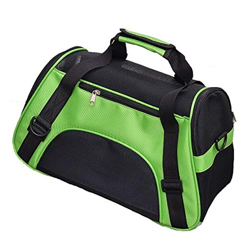 Shiningo Soft Pet Carrier for Small Dogs, Cats, Puppy, Airline Approved Portable Carrier Bag for Airline, Train, Car Travel (Large, Green) from Shiningo